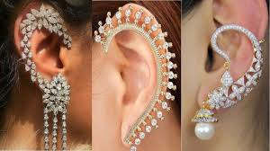 ear cuff jewelry trendy designs of diamond ear cuff earrings diamond
