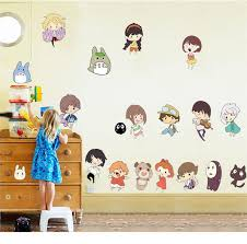 Studio Ghibli Decor Hayao Miyazaki Animation Ghibli Totoro Wall Sticker Cartoon My