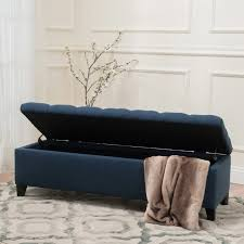 Padded Storage Bench Three Posts Amalfi Upholstered Storage Bench Reviews Wayfair