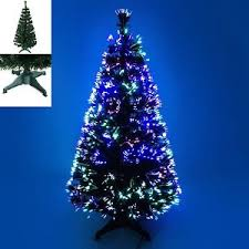3ft 4ft 5ft green fibre optic tree with multicoloured