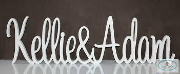 personalised custom wooden wedding name signs