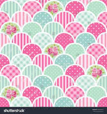 cute seamless vintage pattern patchwork shabby stock vector