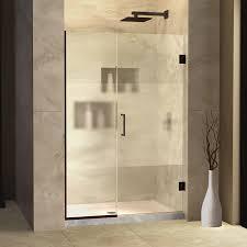 48 Inch Glass Shower Door Dreamline Unidoor Plus 40 40 1 2 In Width Frameless Hinged