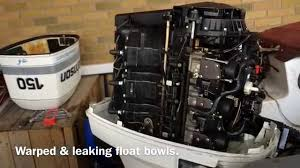 johnson evinrude outboard float bowl problems youtube