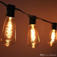 Light Bulb String Outdoor Vintage Look Edison Bulb Clear String Light 10 Socket Outdoor
