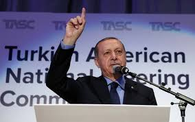 fighting breaks out at turkish president s speech in new york