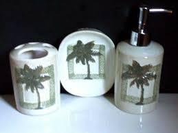 Tropical Bathroom Accessories by Tropical Palm Trees Bath Accessories Set Soap Dish Lotion