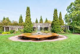 Botanical Gardens In Illinois In The Garden Of Chicago Botanic Garden Stock Image