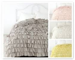 ruffle duvet cover cotton sateen