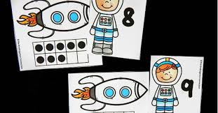 astronaut ten frame matching game the kindergarten connection