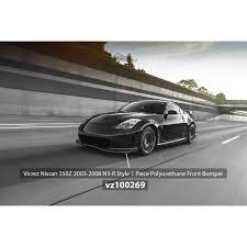 nissan 350z nismo v3 front bumper nissan 350z 2003 2008 n3 r style 1 piece polyurethane front bumper