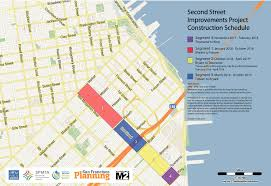San Francisco Bike Map Visionary Second Street Project Breaks Ground San Francisco
