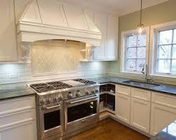 Traditional Kitchen Backsplash Kitchen Backsplash Ideas With White Cabinets And Dark