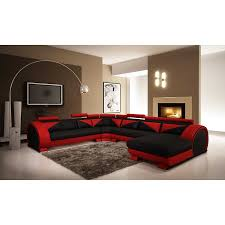 Red Leather Sofa Sets Red Leather Indoor Sofa With Three Seat And Track Armrest