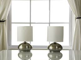 Touch Lamps For Girls Bedroom Light Accents Touch Table Lamps Brushed Nickel With Fabric Shades
