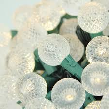set of 180 warm clear white led g30 globe christmas lights green