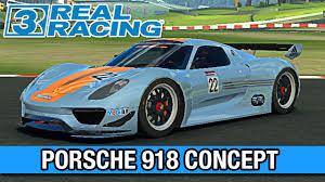 porsche 918 rsr real racing 3 carro insano porsche 918 rsr concept pt br 64