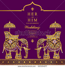 india wedding card india wedding card stock vector 522104077