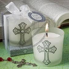 communion favors wholesale classic cross design candle favors wedding candle china wholesale