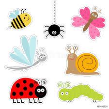 cute cartoon insect sticker set ladybug dragonfly butterfly cute cartoon insect sticker set ladybug dragonfly butterfly caterpillar spider snail flat design wall sticker