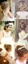 2017 new wedding hairstyles for brides and flower girls updo