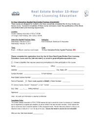 15 hour interactive applied real estate post licensing education