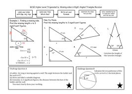 trigonometry in right angled triangles by madmaths11 teaching