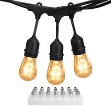 heavy duty outdoor string lights jackyled 48ft outdoor string lights heavy duty cord with 18 sockets