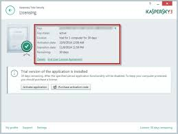 reset kaspersky 2014 trial period how to activate a trial version of kaspersky total security