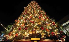 tree christmas trees decorated outside wallpapers pictures light