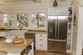 craftsman style kitchen prairie cabinets white varnished wood