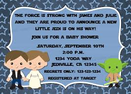 create easy star wars baby shower invites free templates