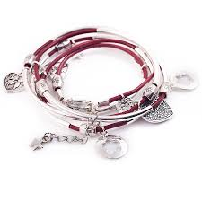 leather bracelet with silver charm images Leather bracelet charms best bracelets jpg