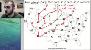 How To Draw A World Map How To Draw Isolines On A Weather Map Middle Science