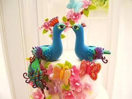 peacock wedding cake topper peacock wedding cake toppers