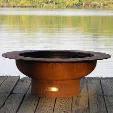 Steel Firepit Saturn Steel Outdoor Pit Contemporary Patio Chicago