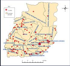 Accra Ghana Map A Spatial Perspective To The Distribution Of Healthcare Facilities