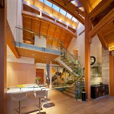 Contemporary Home Interiors Kadenwood Timber Frame Home 1 Idesignarch Interior Design