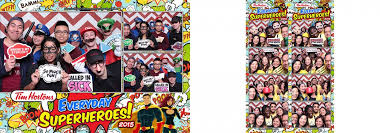 Superhero Photo Booth Tim Hortons Everyday Superheroes Staff Party Xpressbooth Photo