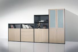 White Oak Bookcase by Office Modern Office Furniture Cabinets To Get Organizer Office