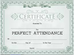 8 free sample perfect attendance certificate templates u2013 printable