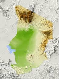 Chad Map Chad Shaded Relief Map Surrounding Territory Greyed Out Colored