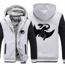 how to train your dragon hoodie for men thick fleece night fury