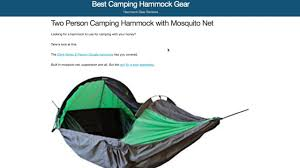 one of the few two person camping hammocks with a mosquito net