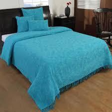 boutis canapé jeté de lit ou de canapé nirvana 100 coton turquoise 255 x 360 cm
