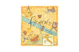Map Of Florence Italy Florence Italy Illustrated Map World Illustration Pinterest