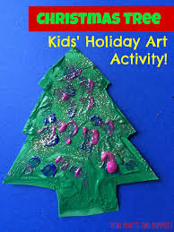 mini monets and mommies christmas tree finger paint kids u0027 art
