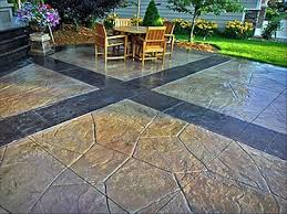 Brushed Concrete Patio Scored Concrete Floors And Patios The Concrete Network