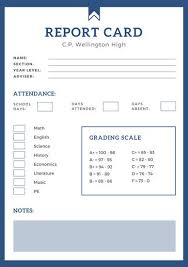 soccer report card template blue simple high school report card templates by canva