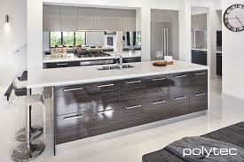 Designer Kitchens Melbourne by Polytec Melamine Marina Grey Sheen And Mombasa Sheen Polytec